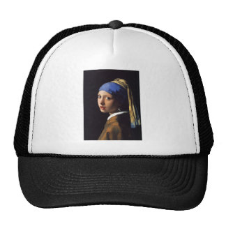 Girl with a pearl earring. By Johannes Vermeer Casquettes De Camionneur