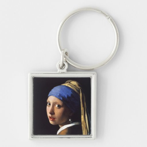 Girl with a pearl earring. By Johannes Vermeer Porte-clef