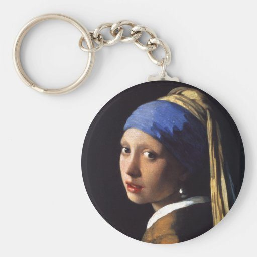 Girl with a pearl earring. By Johannes Vermeer Porte-clés