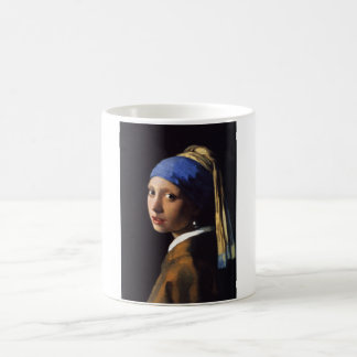 Girl with a pearl earring. By Johannes Vermeer Mug Magique