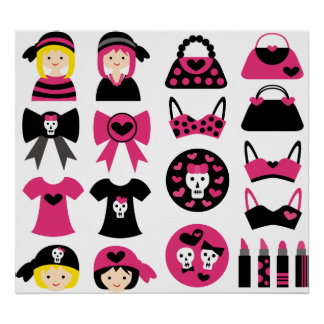 Girly Gothic Poster