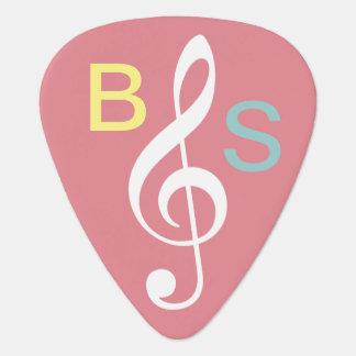 girly personnalisé de note musicale de clef de g onglet de guitare