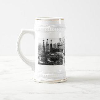 Gisement de pétrole vintage tasses à café