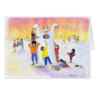 Givré l'homme abominable de neige :  Noël Carte De Vœux