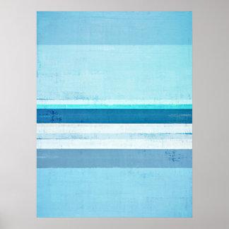 """""""Glaçant"""" l'art abstrait de bleu et de turquoise Poster"""