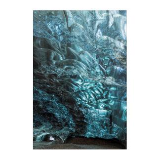 Glace bleue d'une caverne de glace, Islande Art Mural En Acrylique