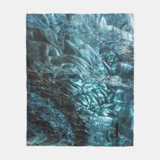Glace bleue d'une caverne de glace, Islande Couverture Polaire