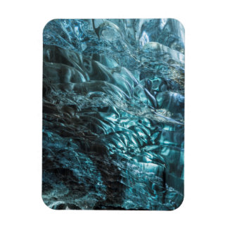 Glace bleue d'une caverne de glace, Islande Magnet Flexible