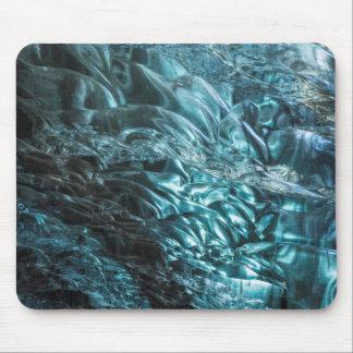 Glace bleue d'une caverne de glace, Islande Tapis De Souris