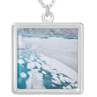Glace congelée de glacier, Islande Pendentif Carré