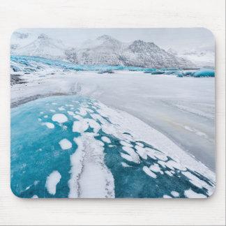 Glace congelée de glacier, Islande Tapis De Souris
