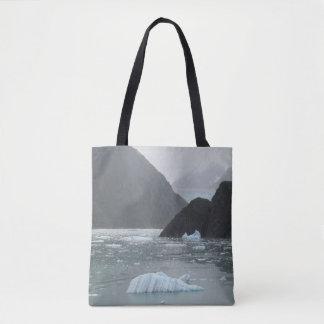 Glace dans le sac fourre-tout à fjord de bras de