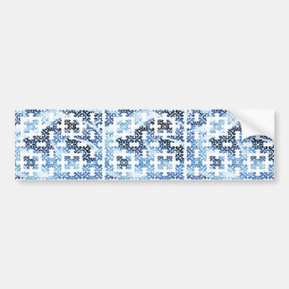 Glace de bleu de damassé d'hiver autocollant pour voiture