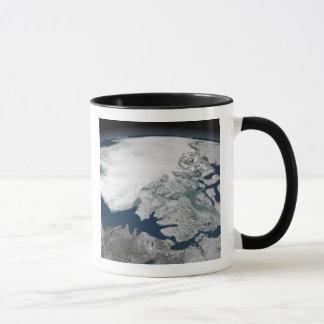 Glace de mer arctique au-dessus de l'Amérique du Mug