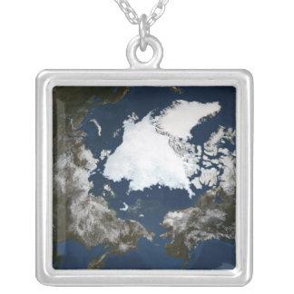 Glace de mer arctique pendentif carré