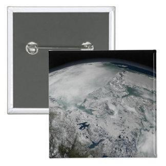 Glace de mer au-dessus de l'Amérique du Nord Pin's