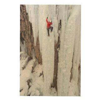 Glace d'escalade d'homme, le Colorado Impression Sur Bois
