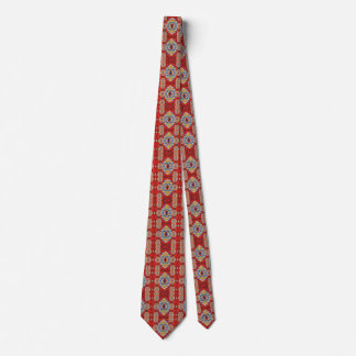 Glace et Jacquard dans la cravate rouge