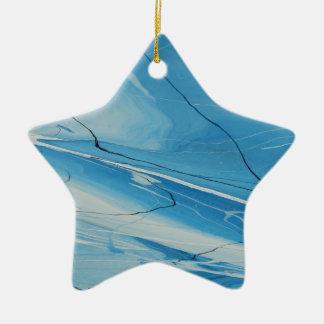 Glace mince ornement étoile en céramique