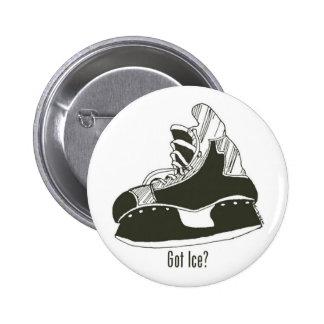 Glace obtenue ? Bouton de patin d'hockey Badge