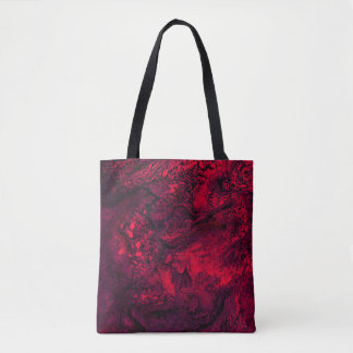 Glace rouge tote bag