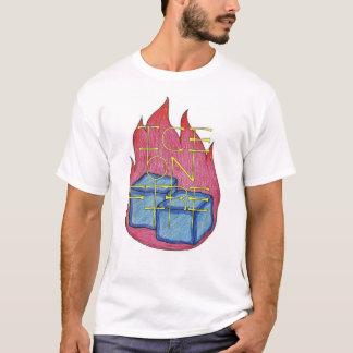 Glace sur la chemise du feu t-shirt