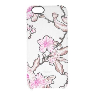Glace tropicale de motif de fleur claire coque iPhone 6/6S