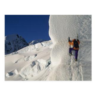 Glacez l'escalade sur le glacier de Tasman Carte Postale