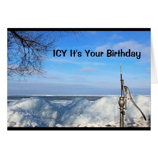 Glacial c'est votre anniversaire que je suis sûr carte de vœux