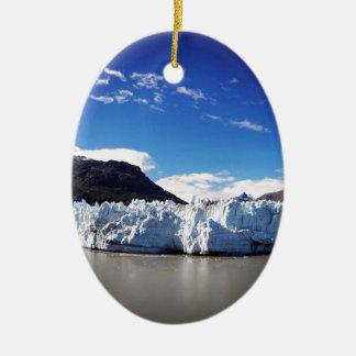 Glacier d'Alaska Ornement Ovale En Céramique