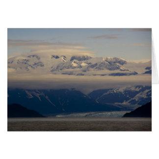 Glacier de Hubbard, carte de Noël d'aube