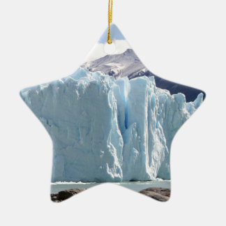 Glacier de Perito Moreno, Argentine 2 Ornement Étoile En Céramique