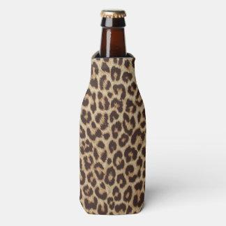 Glacière de bouteille d'empreinte de léopard