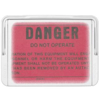 Glacière militaire d'étiquette de danger