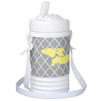 Glacière Pour Boisson Glacière jaune et gris d'igloo de teckel de
