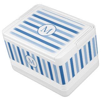Glacière Pour Canettes Monogramme blanc bleu