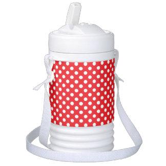 Glacière rouge et blanc de boisson d'igloo de poin bouteille isotherme