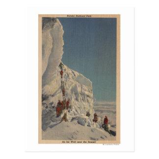 Glaciéristes en parc national plus pluvieux, carte postale