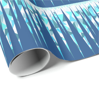 Glaçons abstraits faits sur commande papier cadeau