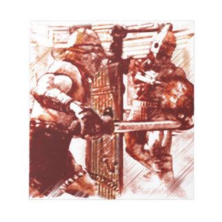 Gladiateurs dans l'arène bloc-note
