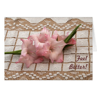 Gladiola rose obtiennent la carte bonne