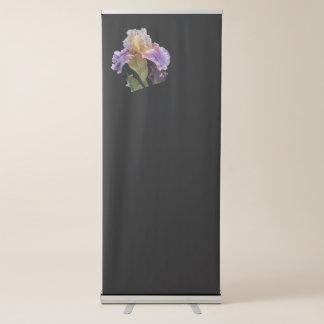 glaïeul d'iris dans le jardin banderole rétractable
