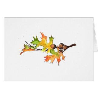 glands et feuille d'automne cartes de vœux