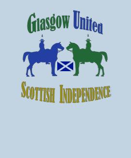 Glasgow a uni pour le T-shirt écossais de l'indépe