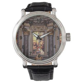 Glassart de retable d'autel d'église montres bracelet