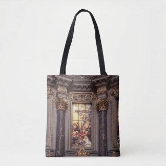 Glassart de retable d'autel d'église sac