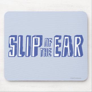 Glissement de l'oreille tapis de souris
