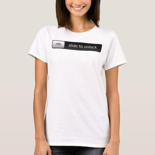 glissez pour ouvrir t-shirt