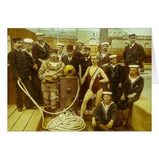 Glissière de lanterne magique navale royale de carte de vœux