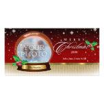 Globe 6 personnalisables de neige de Joyeux Noël Photocartes Personnalisées